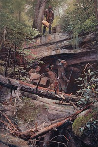 "John Buxton Hand Signed and Numbered Limited Edition Canvas Giclee:""A Secret Cache"""