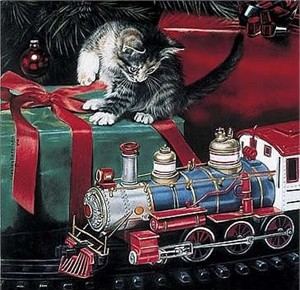 """Leslie Harrison Open Edition Print:""""Holiday Express"""""""