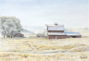 "Jon Crane Hand Signed and Numbered Artist Proof Giclee Print on Paper:""Frosty Morn"""