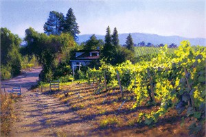 "June Carey Handsigned & Numbered Limited Edition Fine Art Giclée Canvas:""My Sonoma"""