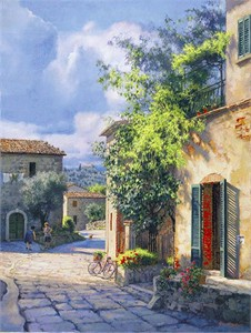 """June Carey Artist Signed and Numbered Fine Art Giclée Masterwork Edition™Canvas: """"Lost in Chianti"""""""