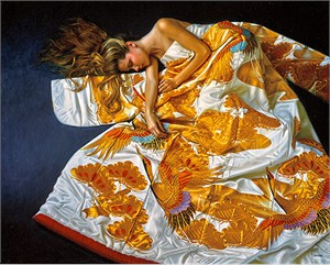 "Douglas Hofmann Artist Remarqued Limited Edition Lithograph on Paper:""Some Enchanted Evening: ""Satin Slippers"""