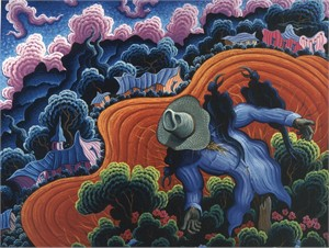 """Kim Wiggins Handsigned and Numbered Limited Edition Giclee on Canvas: """"Song of the Valle Vidal"""""""
