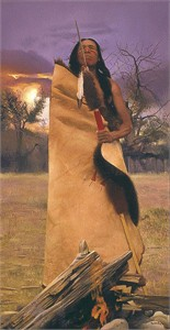 "Don Crawley Handsigned and Numbered  Limited Edition Giclee on Canvas:""Sand Creek Memories"""