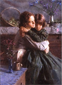 "Morgan Weistling Handsigned and Numbered Limited Edition Giclee on Canvas:""Sisters"""