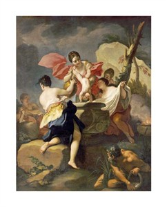 """Antonio Balestra Fine Art Open Edition Giclée:""""Thetis Dipping the Infant Achilles into Water from the Styx"""""""