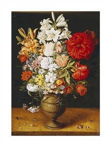 "Osias Beert I Fine Art Open Edition Giclée:""Lilies, Peonies, Tulips, Roses, Anemones"""