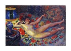 "Felix Bracquemond Fine Art Open Edition Giclée:""Nude with a Blue Lamp"""