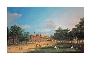 "Giovanni Antonio Canal Fine Art Open Edition Giclée:""London: The Old Horse Guards and the Banqueting Hall"""