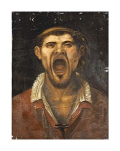 "Agostino Carracci Fine Art Open Edition Giclée:""A Peasant Man, Head and Shoulders, Shouting"""