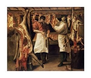"""Annibale Carracci Fine Art Open Edition Giclée:""""The Butcher's Shop"""""""