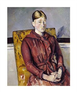 "Paul Cezanne Fine Art Open Edition Giclée:""Madame Cezanne with a Yellow Armchair"""