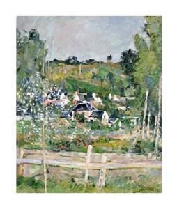 """Paul Cezanne Fine Art Open Edition Giclée:""""A View of Auvers-Sur-Oise; The Fence"""""""