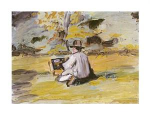 "Paul Cezanne Fine Art Open Edition Giclée:""A Painter at Work"""