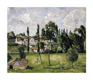 """Paul Cezanne Fine Art Open Edition Giclée:""""Paysage Avec Conduite D'Eau"""""""