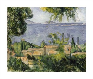 "Paul Cezanne Fine Art Open Edition Giclée:""The Rooftops of L'Estaque"""