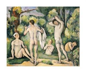 "Paul Cezanne Fine Art Open Edition Giclée:""The Five Bathers"""