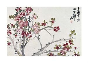 """Wu Changshuo Fine Art Open Edition Giclée:""""Flowers"""""""