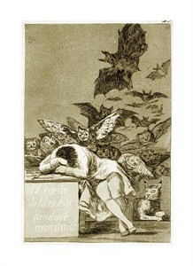 "Francisco De Goya Fine Art Open Edition Giclée:""The Sleep of Reason Produces Monsters (Los Caprichios)"""