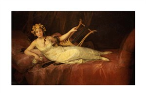 "Francisco De Goya Fine Art Open Edition Gicl�e:""Portrait of the 10th Marquesa de Santa Cruz as the Muse Euterpe"""