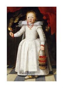 "Cornelis De Vos Fine Art Open Edition Giclée:""A Young Girl Holding a Basket of Cherries"""