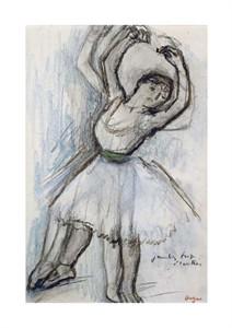 """Edgar Degas Fine Art Open Edition Giclée:""""Study of a Dancer"""""""