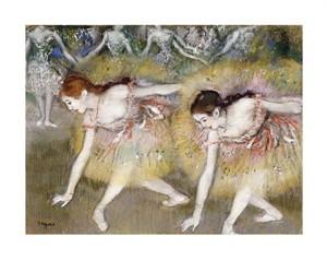 """Edgar Degas Fine Art Open Edition Giclée:""""Dancers Bending Down"""""""