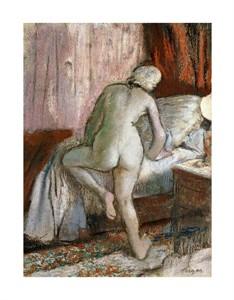 "Edgar Degas Fine Art Open Edition Giclée:""Bedtime"""