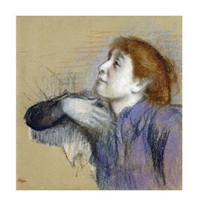 "Edgar Degas Fine Art Open Edition Giclée:""Bust of a Woman"""