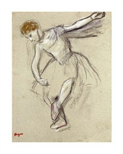 "Edgar Degas Fine Art Open Edition Giclée:""A Dancer Seen in Profile"""