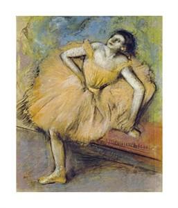"""Edgar Degas Fine Art Open Edition Giclée:""""Danseuse Assise"""""""