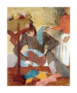 "Edgar Degas Fine Art Open Edition Giclée:""The Hatmaker"""