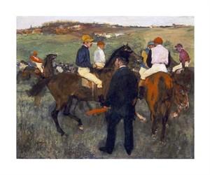 "Edgar Degas Fine Art Open Edition Giclée:""Racehorses (Leaving the Weighing)"""