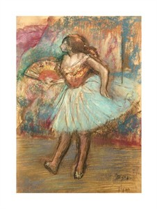 "Edgar Degas Fine Art Open Edition Giclée:""Dancer with a Fan"""
