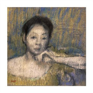 "Edgar Degas Fine Art Open Edition Giclée:""Bust of a Woman with Her Left Hand on Her Chin"""