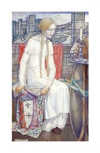 "Edward Reginald Frampton Fine Art Open Edition Giclée:""Elaine"""