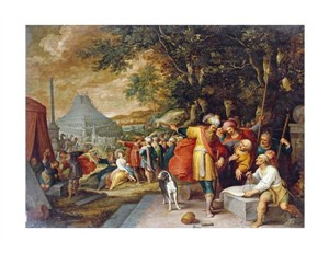 "Frans Francken II Fine Art Open Edition Giclée:""The Building of the Tower of Babel"""
