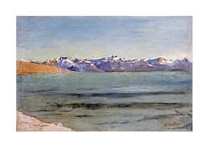 "Ferdinand Hodler Fine Art Open Edition Giclée:""Sunrise Over Mont Blanc"""