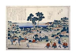 "Hokusai Fine Art Open Edition Giclée:""Ordnance Survey of Countryside"""