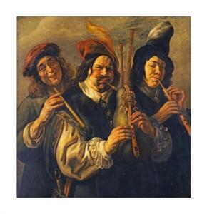 """Jacob Jordaens Fine Art Open Edition Giclée:""""Three Musicians"""""""