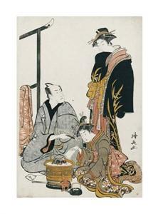 """Torii Kiyonaga Fine Art Open Edition Giclée:""""The Actor Matsumoto Koshiro IV"""""""