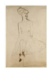 "Gustav Klimt Fine Art Open Edition Giclée:""Seated Woman"""