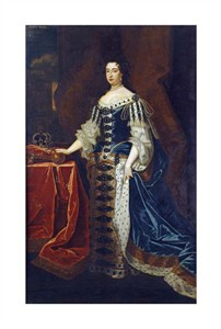 "Sir Godfrey Kneller Fine Art Open Edition Giclée:""Portrait of Queen Mary II"""