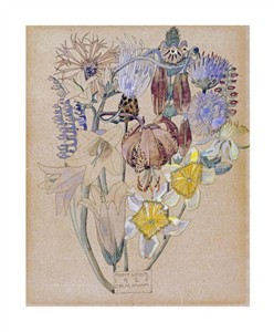 """Charles Rennie Mackintosh Fine Art Open Edition Giclée:""""Mont Louis - Flower Study"""""""