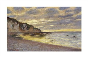 "Claude Monet Fine Art Open Edition Giclée:""Pointe de Lailly, Maree Basse"""