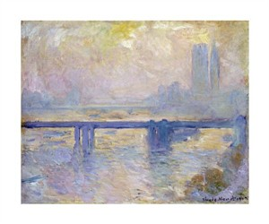 "Claude Monet Fine Art Open Edition Giclée:""Charing Cross Bridge"""