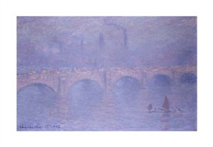 "Claude Monet Fine Art Open Edition Giclée:""Waterloo Bridge, Misty Sunshine"""