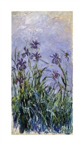 "Claude Monet Fine Art Open Edition Giclée:""Iris Mauves"""