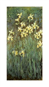 "Claude Monet Fine Art Open Edition Gicl�e:""Iris Jaune"""