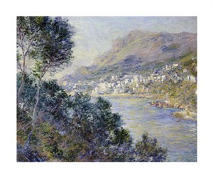 "Claude Monet Fine Art Open Edition Giclée:""A View of Cape Martin, Monte Carlo"""